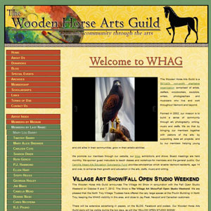 Wooden Horse Arts Guild website
